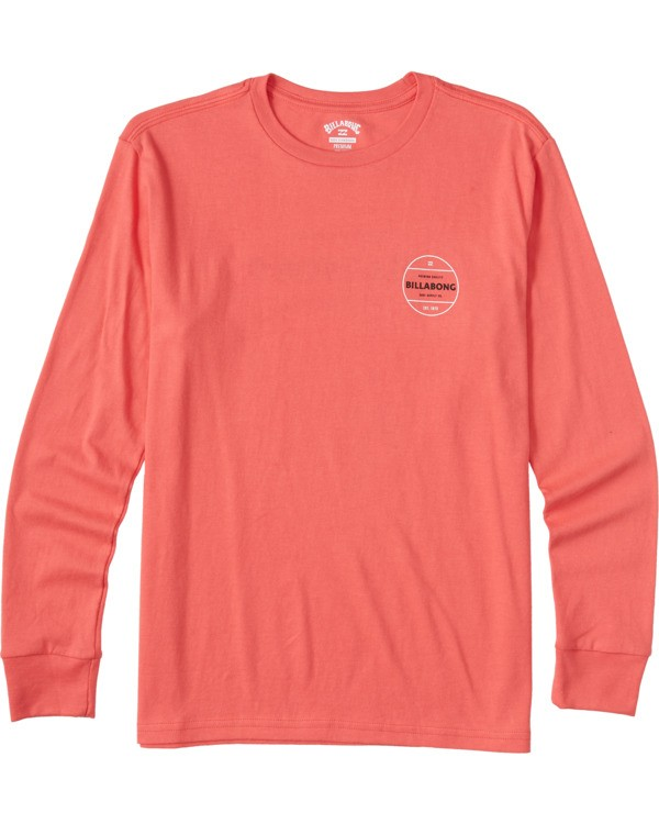 0 Boys' Rotor Long Sleeve T-Shirt Orange ABBZT00112 Billabong