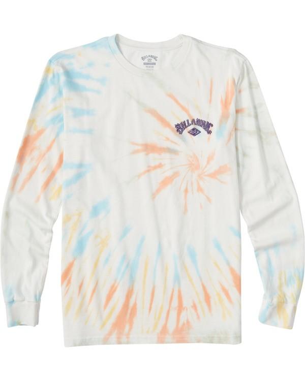 0 Boys' Archwave Tie Dye Long Sleeve T-Shirt  ABBZT00115 Billabong