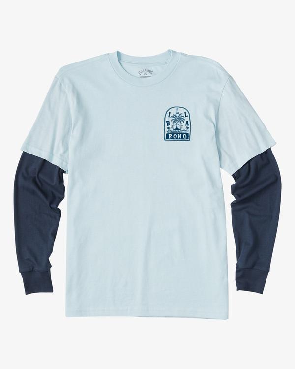 0 Boy's Maze TwoFer Long Sleeve T-Shirt Blue ABBZT00121 Billabong