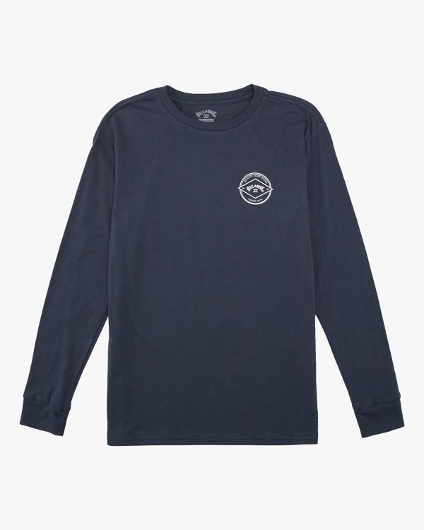 0 Boys' Rotor Arch Long Sleeve T-Shirt Blue ABBZT00124 Billabong