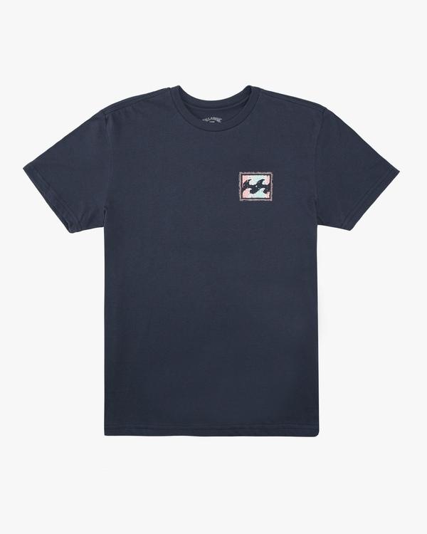 0 Boys' Crayon Wave Short Sleeve T-Shirt Blue ABBZT00132 Billabong