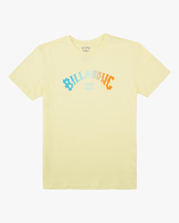 0 Boys' Arch Fade Short Sleeve T-Shirt Yellow ABBZT00134 Billabong
