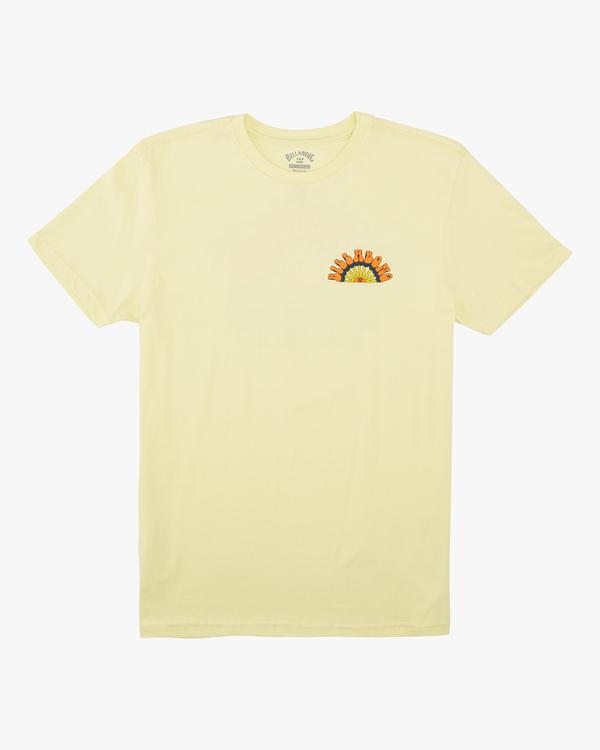 0 Boys' Green Flash Short Sleeve T-Shirt Yellow ABBZT00135 Billabong