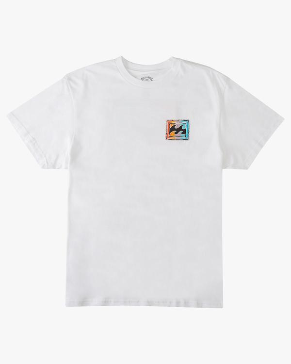 0 Boys' Crayon Wave Short Sleeve T-Shirt White ABBZT00145 Billabong