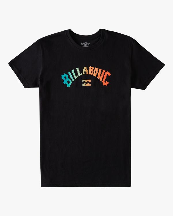 0 Boys' Arch Fill Short Sleeve T-Shirt Black ABBZT00175 Billabong