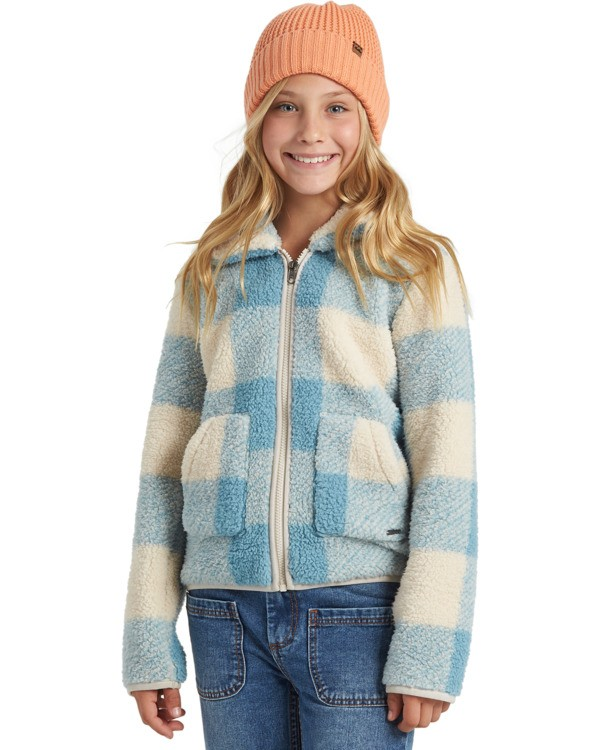 0 Warm And Cozy Fleece Jacket Blue ABGFT00116 Billabong