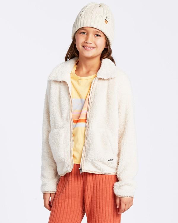 0 Warm And Cozy Fleece Jacket White ABGFT00116 Billabong