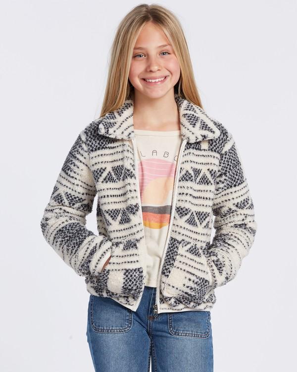 0 Warm And Cozy Polar Fleece Jacket White ABGFT00116 Billabong