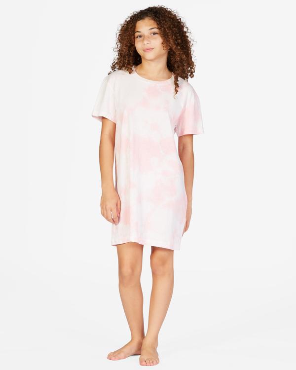 0 Girls' Keep It Beachy T-Shirt Dress Pink ABGKD00101 Billabong