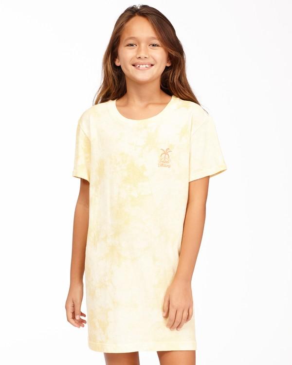0 Girls' Keep It Beachy T-Shirt Dress Yellow ABGKD00101 Billabong