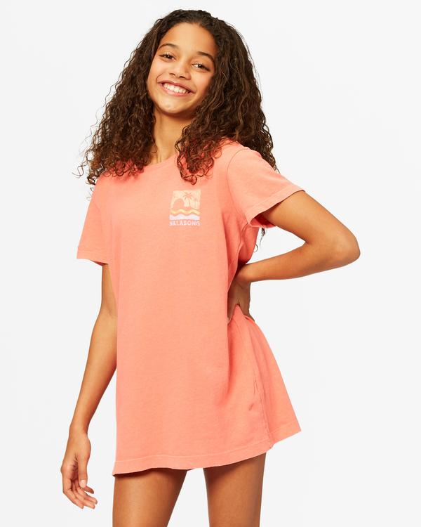 0 Girls' Keep It Beachy T-Shirt Dress Multicolor ABGKD00101 Billabong