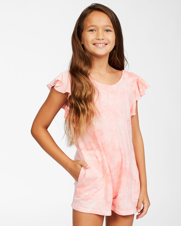 0 Girls' Wave Break Knit Dress Orange ABGKD00116 Billabong