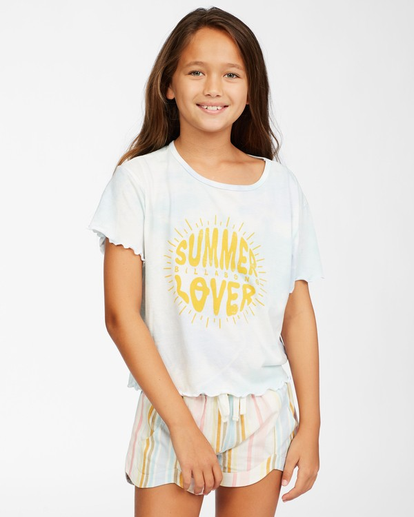 0 Girls' Girlfriend T-Shirt Brown ABGKT00128 Billabong