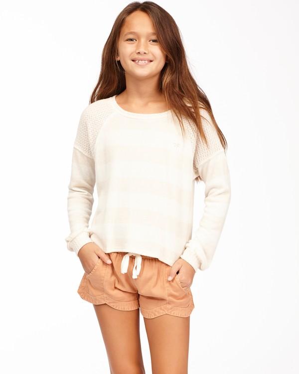 0 Girls' Fresh Start Knit Top White ABGKT00136 Billabong