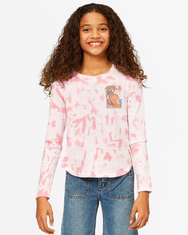 0 Girls' Back In Time Long Sleeve T-Shirt Multicolor ABGKT00142 Billabong