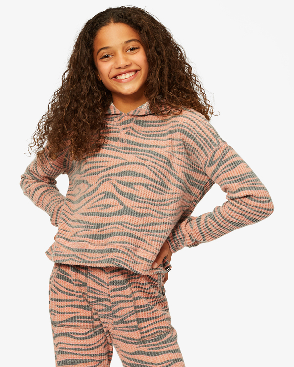 0 Girls' Wild Times Thermal Pullover Hoodie Brown ABGKT00144 Billabong