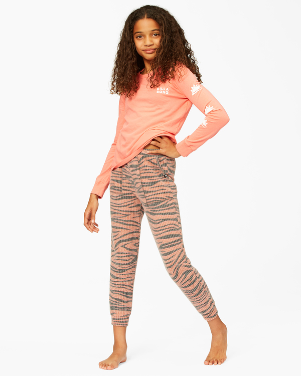 0 Girls' Wild Times Thermal Sweatpants Brown ABGNP00119 Billabong