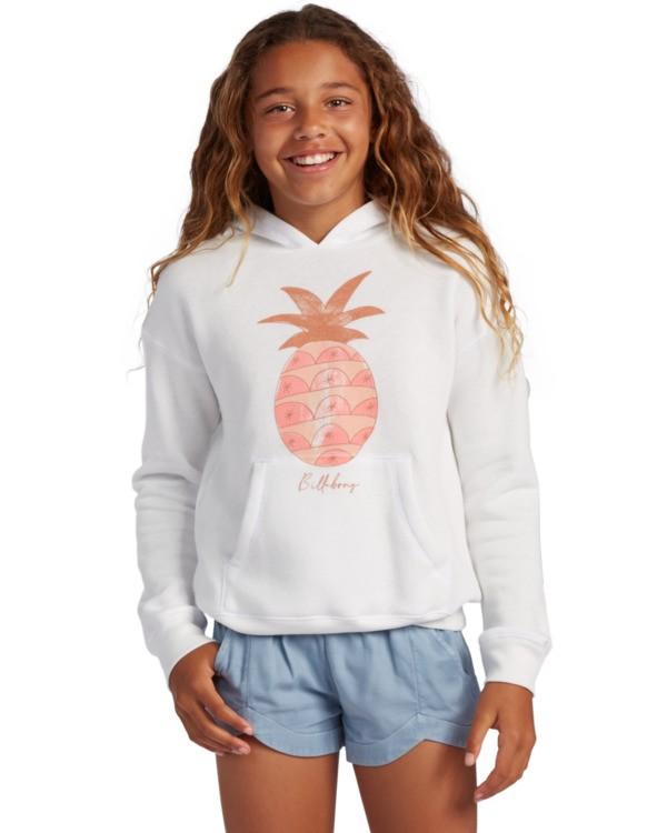 0 Girl's Aloha Love Pullover Sweatshirt White ABGSF00104 Billabong