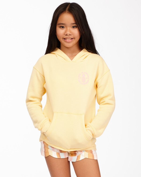 0 Girls' Life Is Sweet Pullover Hoodie Yellow ABGSF00114 Billabong