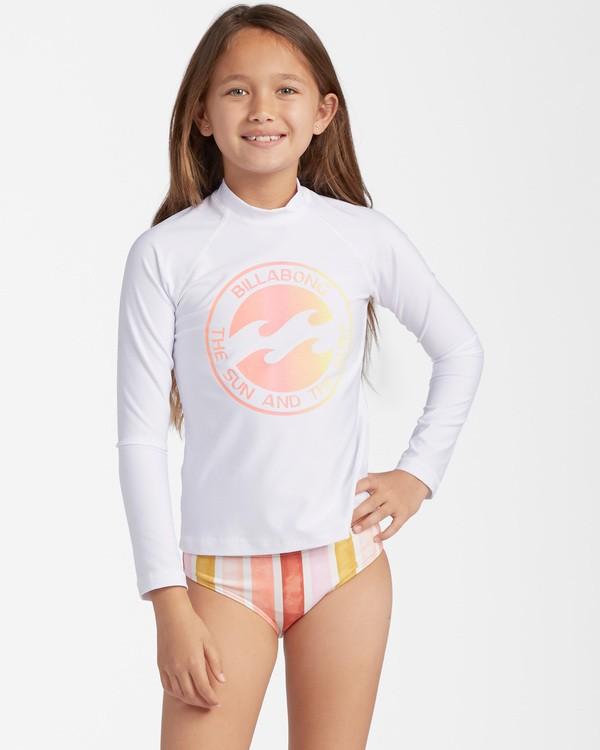 0 Girls' Core Surfdaze Rashguard White ABGWR00103 Billabong