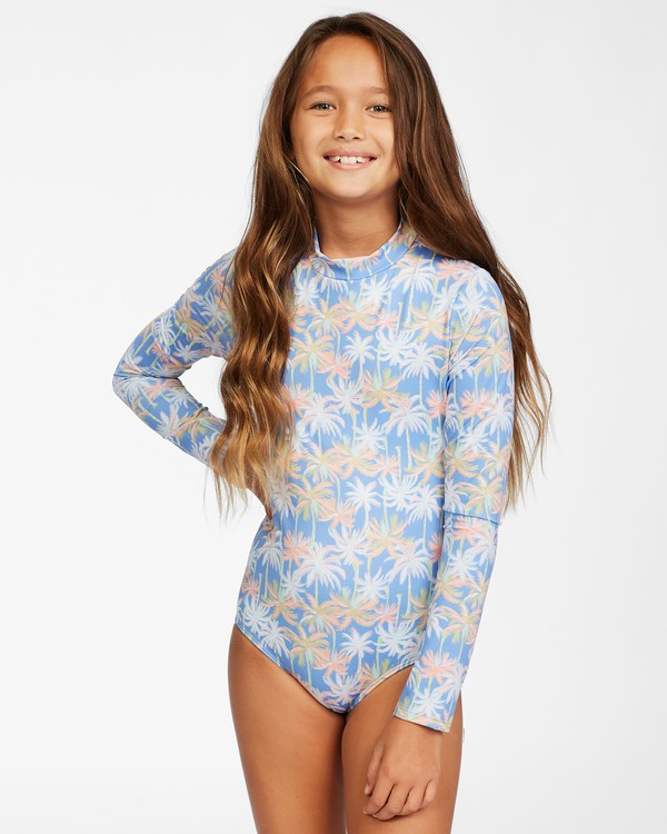 0 Girl's Talk To The Palm Long Sleeve Swimsuit Purple ABGWR00113 Billabong