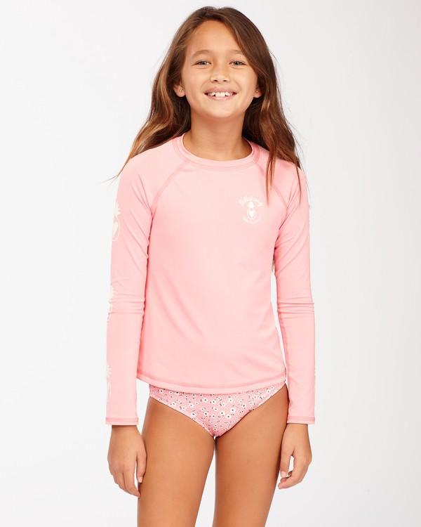 0 Girls' Feelin Ditsy Long Sleeve Rashguard Pink ABGWR00118 Billabong