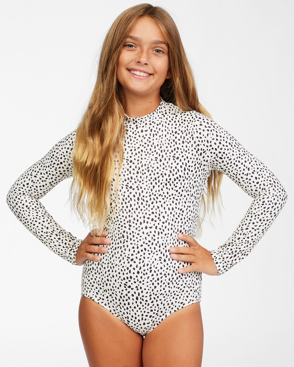 0 Tropic Party Bodysuit One Piece Swimsuit White ABGWR00121 Billabong