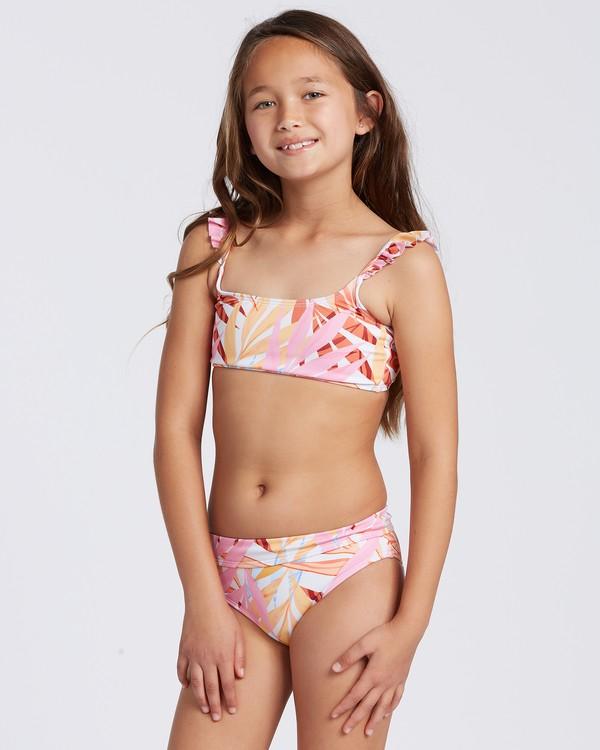 0 Oceans Away Ruffle Trilet Bikini Grey ABGX200103 Billabong