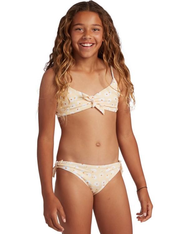 0 Girl's Sunshine Hanky Tie Bikini Set Yellow ABGX200131 Billabong