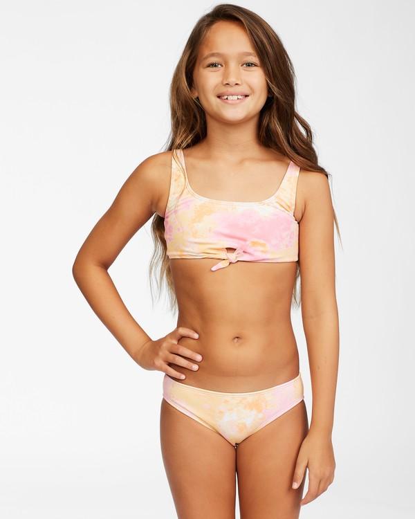 0 Girls' Chasing Sunshine Knotted Bikini Set Grey ABGX200153 Billabong