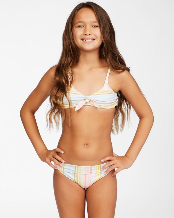 0 Girls' Stoked On Sun Hanky Tie Bikini Set Grey ABGX200155 Billabong