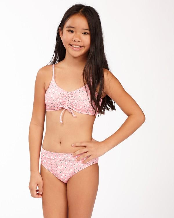 0 Girls' Feelin Ditsy Drawstring Tank Bikini Set Pink ABGX200165 Billabong