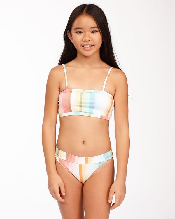 0 Girls' Chasing Summer Banded Tank Bikini Set Grey ABGX200172 Billabong