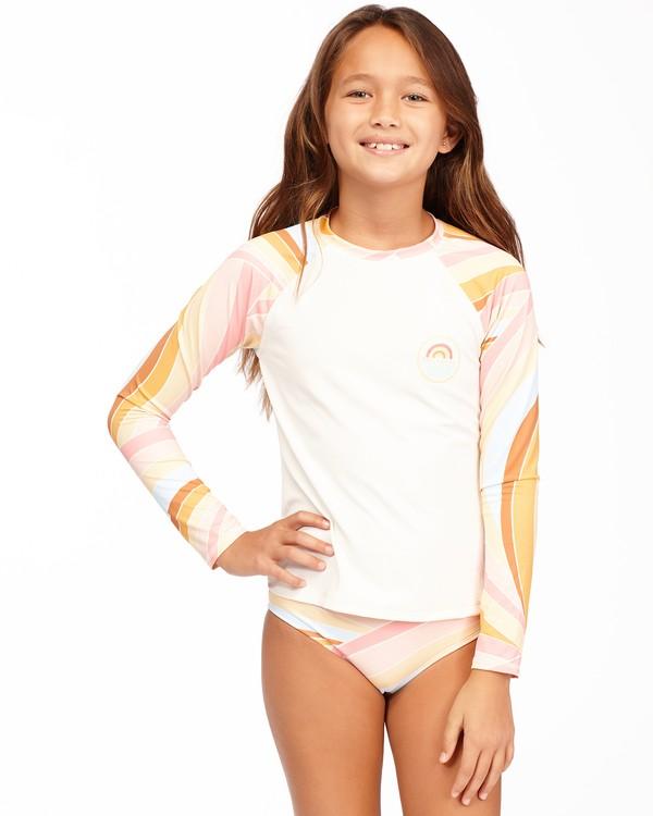 0 Girls' Sea Of Gold Long Sleeve Rashguard Set Grey ABGX200174 Billabong