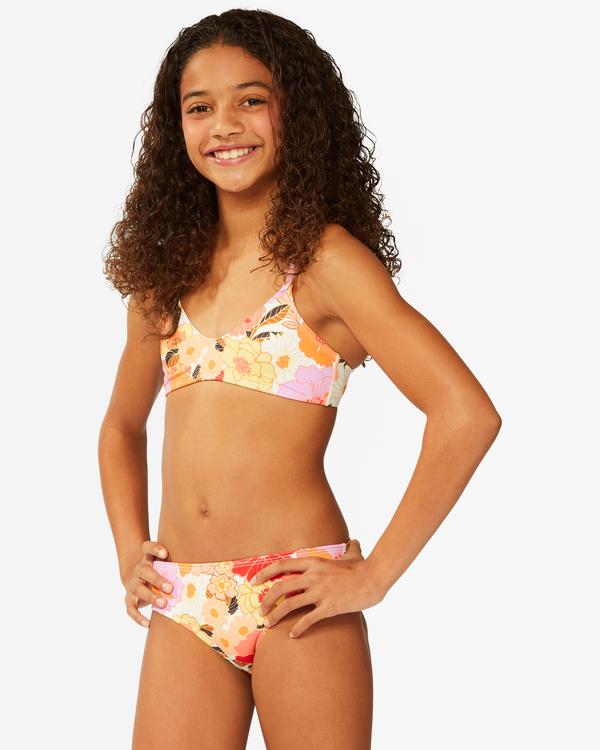 0 Girls' So Groovy Trilet Bikini Set Grey ABGX200176 Billabong