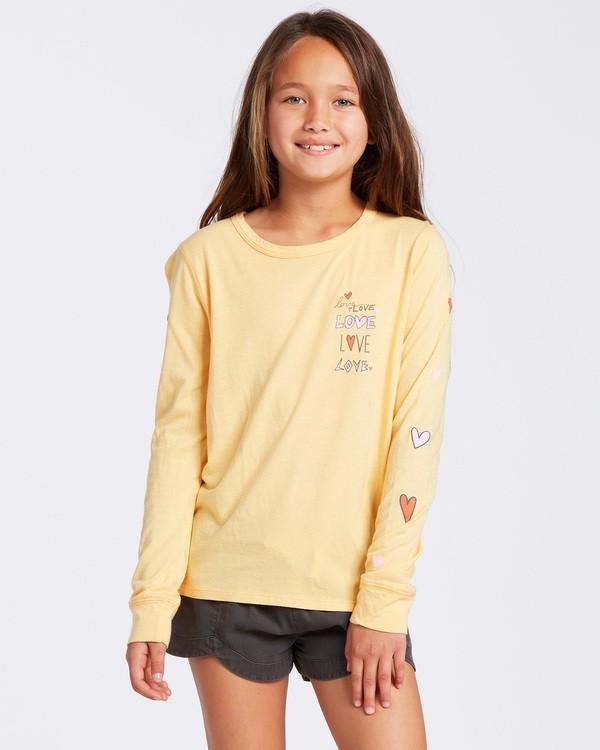 0 Love More Long Sleeve T-Shirt Yellow ABGZT00118 Billabong