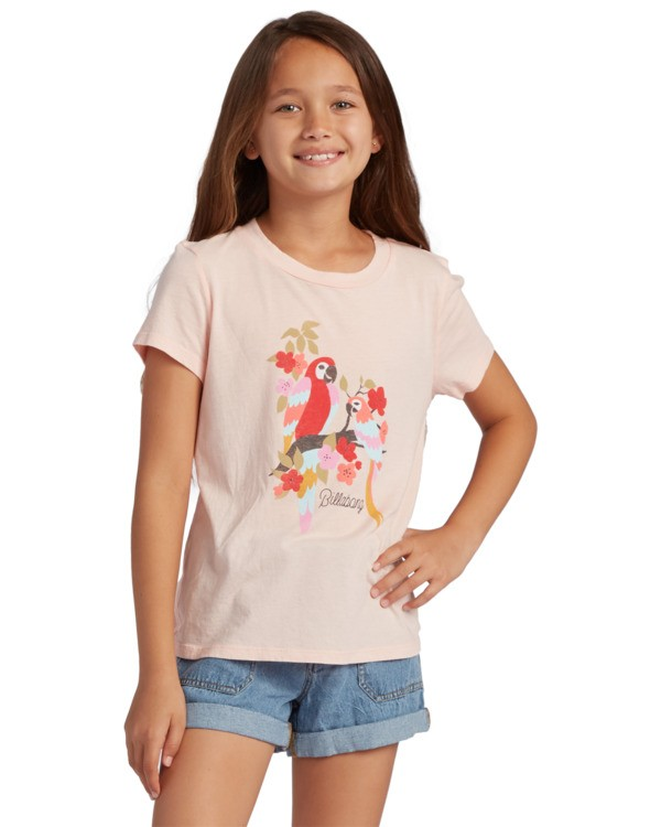 0 Girl's Rainbow Parrots T-Shirt Grey ABGZT00125 Billabong