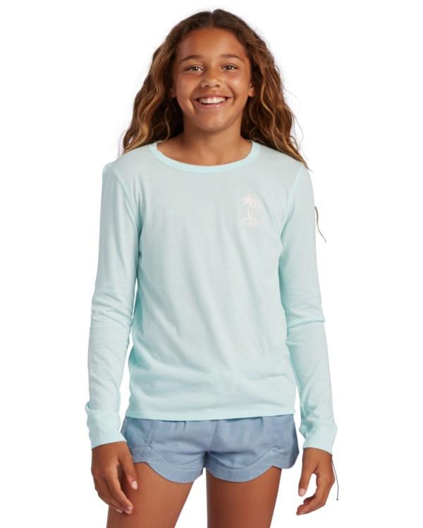 0 Girl's Warm Waves Long Sleeve T-Shirt Blue ABGZT00138 Billabong