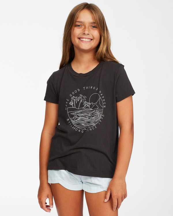0 Girl's Good Waves T-Shirt Black ABGZT00146 Billabong
