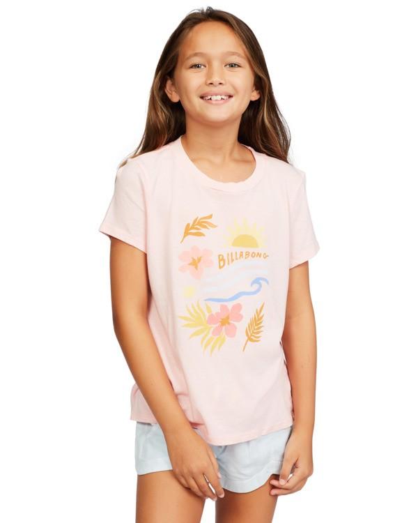 0 Girls' Be In Nature T-Shirt Pink ABGZT00148 Billabong