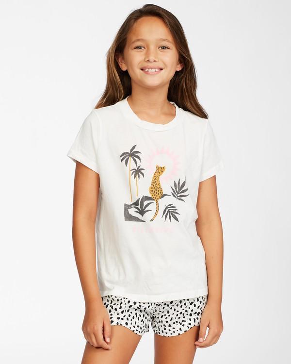 0 Girl's Wild Cat T-Shirt White ABGZT00149 Billabong