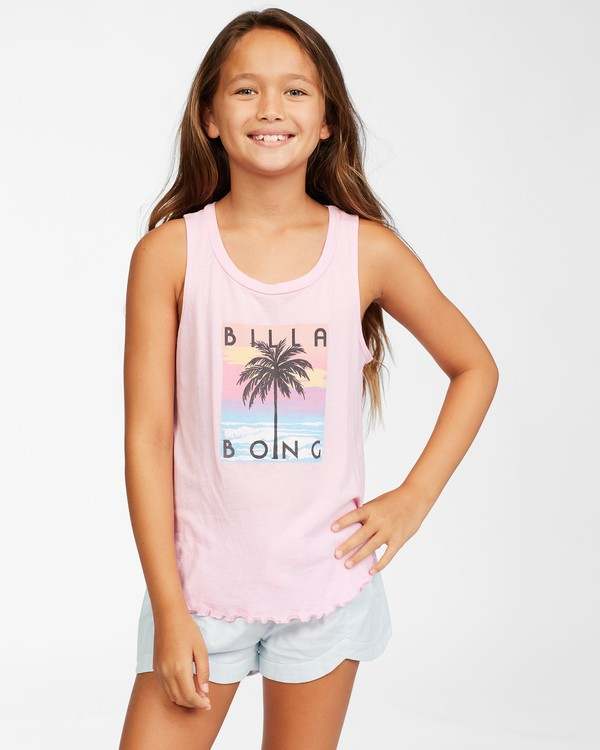 0 Girls' Go Surfing Tank Top Pink ABGZT00157 Billabong