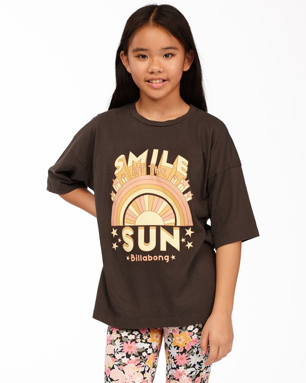 0 Girls' Smile At The Sun T-Shirt Black ABGZT00169 Billabong