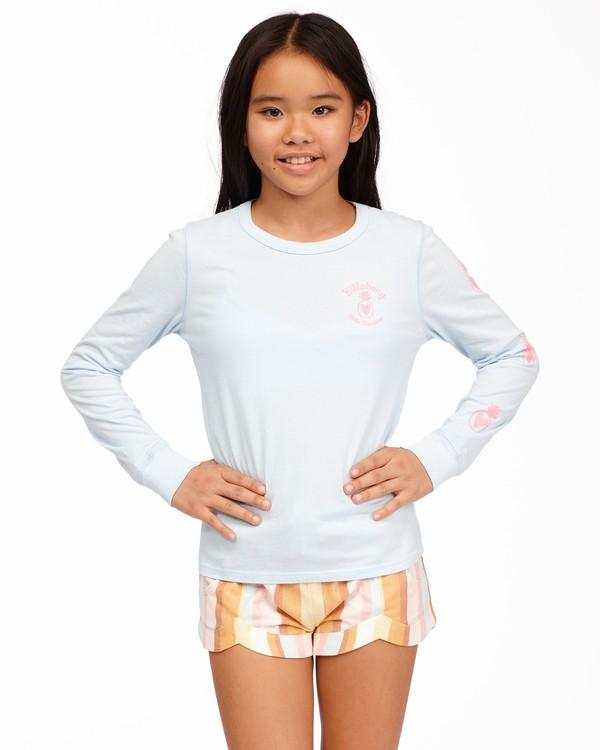 0 Girls' Hello Sunshine Long Sleeve T-Shirt Blue ABGZT00173 Billabong