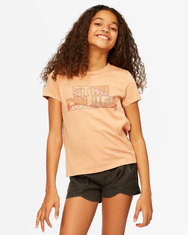 0 Stay Golden T-Shirt Brown ABGZT00183 Billabong
