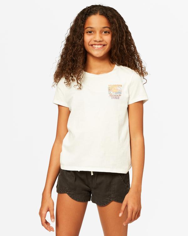 0 Girls' Meet Me In The Surf Boyfriend T-Shirt White ABGZT00185 Billabong