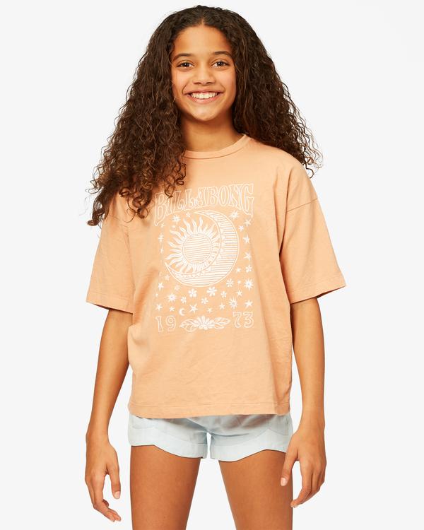 0 Girls' Moons Among Us T-Shirt Brown ABGZT00188 Billabong