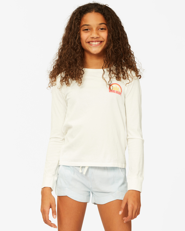 0 Girls' Shine Bright Long Sleeve T-Shirt White ABGZT00189 Billabong