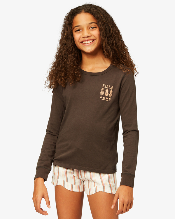 0 Girls' Sweet Paradise Long Sleeve T-Shirt Black ABGZT00191 Billabong
