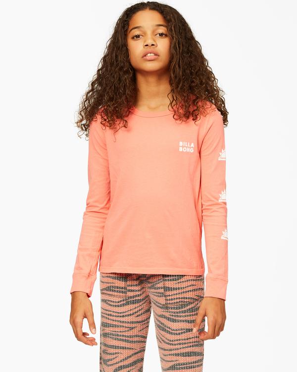 0 Girls'  Born Sunny Long Sleeve T-Shirt Multicolor ABGZT00193 Billabong